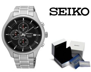 Relógio Seiko®Chronograph Special Value Stainless Steel Bracelet 43mm
