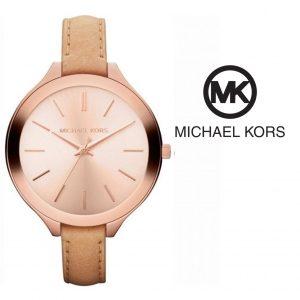 Relógio Michael Kors® Slim Runway Rose Gold Dial Brown | 5ATM