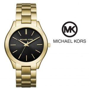 Watch Michael Kors® Slim Runway Black Dial Gold | 5ATM