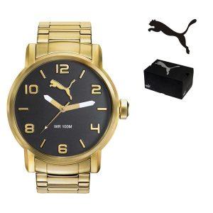 Relógio Puma® Alternative Round Gold | 10ATM