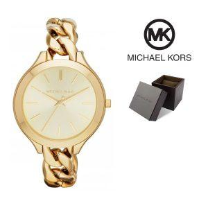 Relógio Michael Kors® Slim Runway Champagne Dial Gold | 5ATM