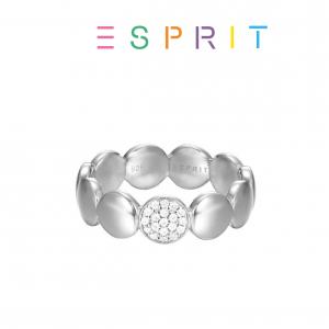 Esprit® Anel Círculos com Cristais Brilhantes | Prateado | 19mm