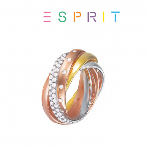 Esprit® Anel Multicolor com Cristais | 19mm