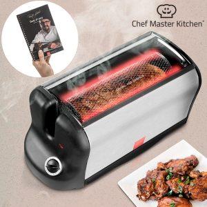 Forno Eléctrico  Portátil Smart Rotisserie S Com livro De Receitas
