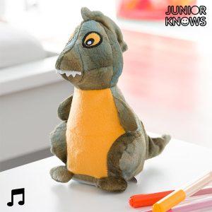 Peluche Dinossauro Com Gravador E Reprodutor De voz Junior Knows