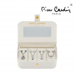 Conjunto Pierre Cardin® 4 Colares e 8 Brincos | Prateado