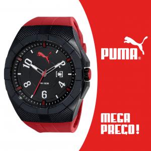 Relógio Puma® Iconic Black & Red Japanese Machine | Calendário | 10ATM