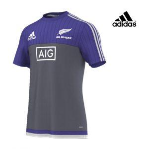 Adidas® T-Shirt Rugby All Blacks Blue & Grey