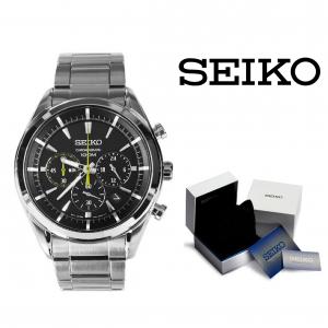 Relógio Seiko®Chronograph | Ponteiros Amarelos