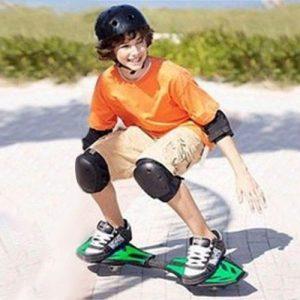 Skate Boost em Forma de Prancha de Surf 2 Rodas
