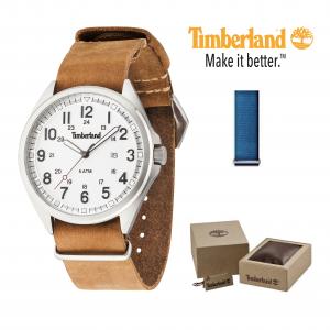 Relógio Timberland® Raynham | Braceletes Castanho e Azul | 5ATM