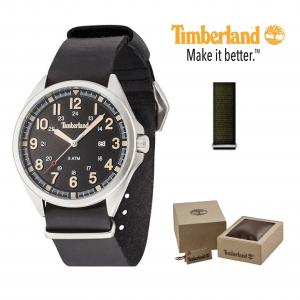 Relógio Timberland® Raynham | Braceletes Preto e Verde | 5ATM
