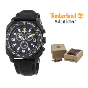 Relógio Timberland® Stratham Black Chronograph | 10ATM
