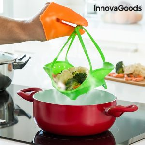 Vaporeira De Silicone Dobrável InnovaGoods Kitchen Foodies
