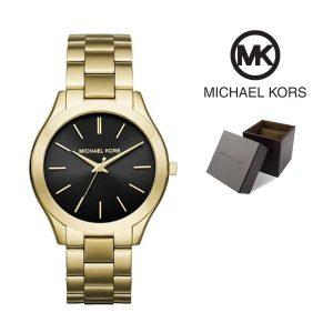 Relógio Michael Kors® Slim Runway Black Dial Gold | 5ATM