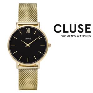 Relógio Cluse® Minuit Mesh Gold/Black | 33MM