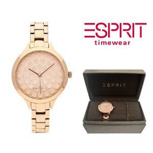 Relógio Esprit® Conjunto Flower Rose Gold   Com Oferta Pulseira