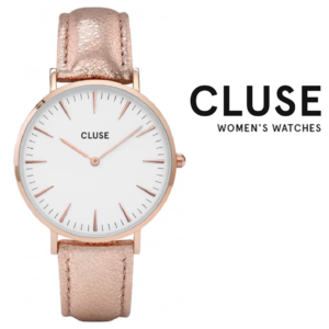 Relógio Cluse® La Bohème Rose Gold White/Gold Metallic | 38MM