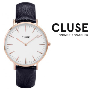 Relógio Cluse® La Bohème Rose Gold White/Blue | 38MM