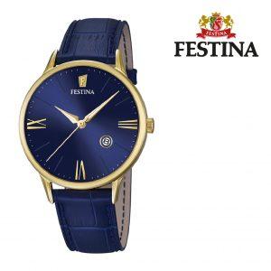 Relógio Festina® Luna Blue Dial Gold | 42MM