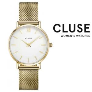 Relógio Cluse® Minuit Mesh Gold/White | 33MM