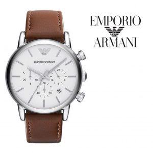 Relógio Emporio Armani® Chronograph White Dial Brown