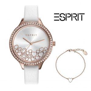 Relógio Esprit® Conjunto Heart White Rose Gold | Com Oferta Pulseira
