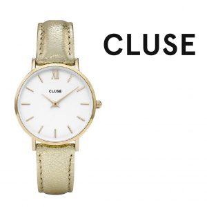 Relógio Cluse® Minuit Gold White/Gold Metálico | 33MM