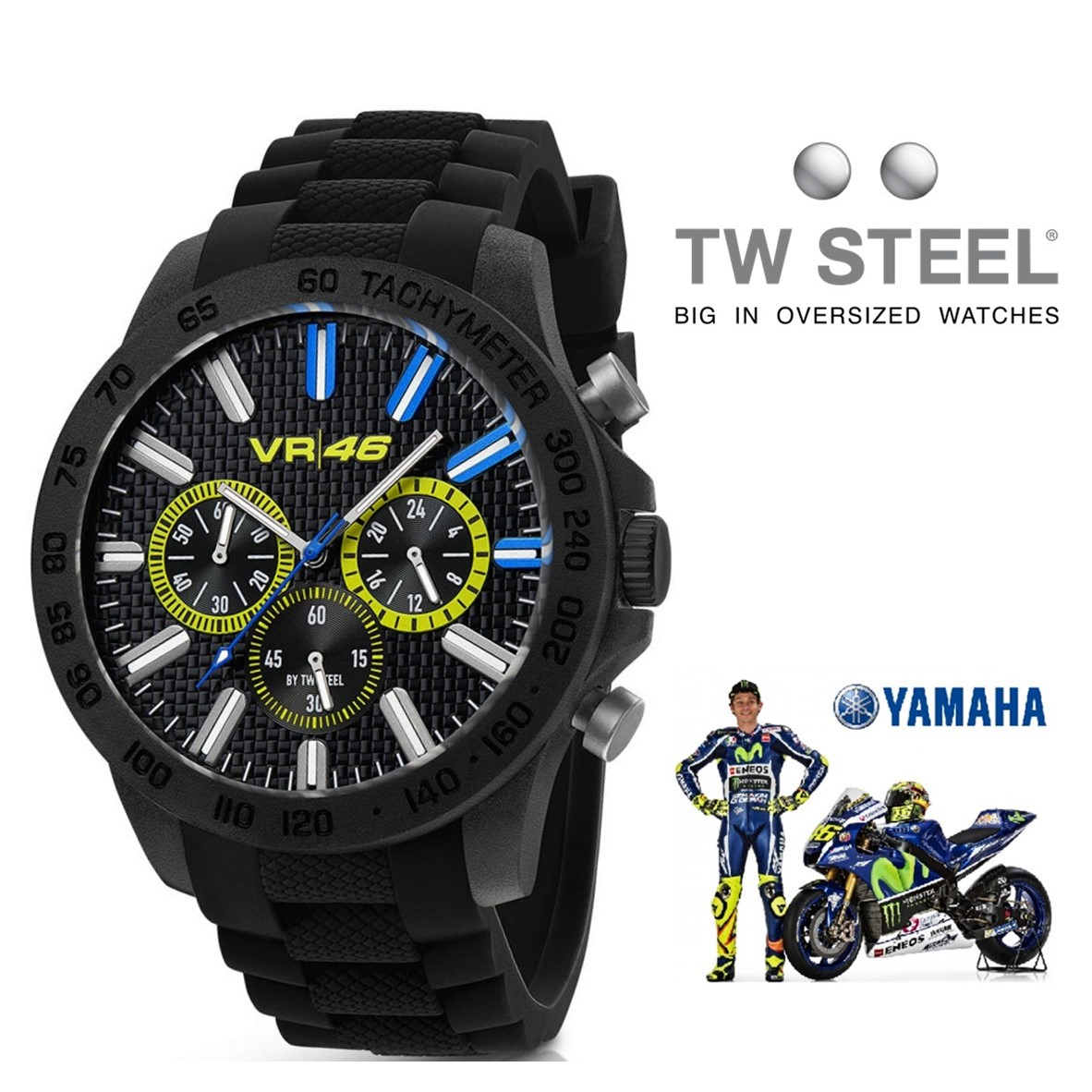 montre tw steel valentino rossi vr114 noir chronographe 10atm you like it. Black Bedroom Furniture Sets. Home Design Ideas