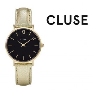 Relógio Cluse® Minuit Gold Black/Gold Metálico | 33MM