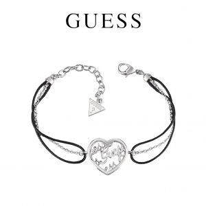 Guess® Pulseira Heart Charm Black