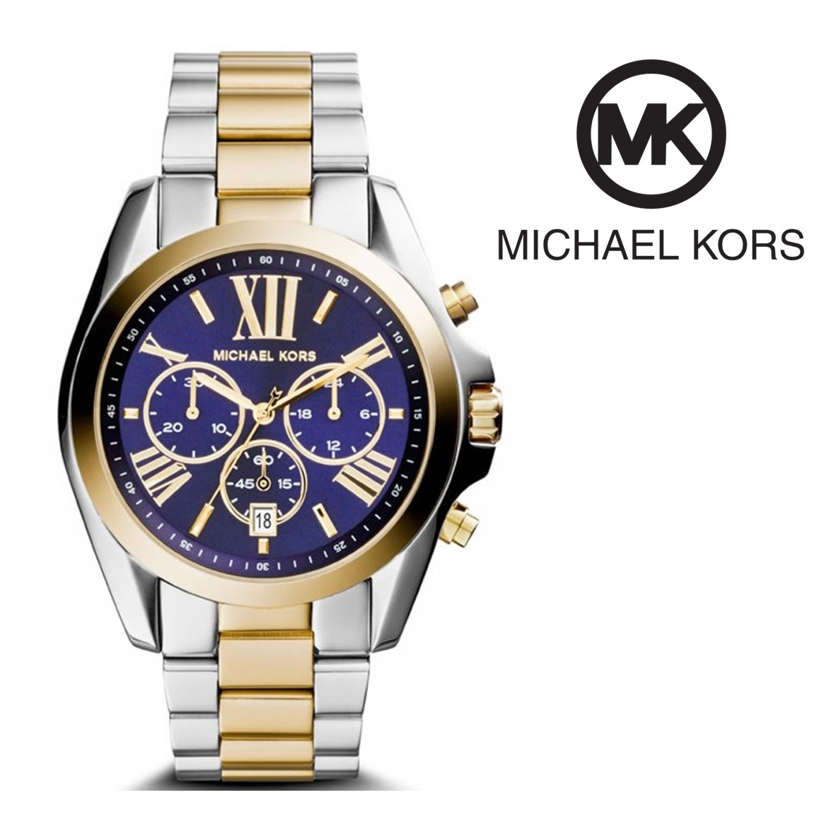 Relógio Michael Kors® Bradshaw Chronograph Blue   10ATM - You Like It 746c73ee10
