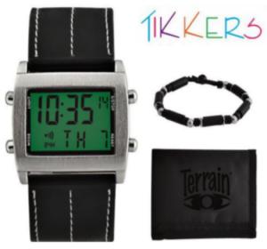 Conjunto Oferta | Relógio Tikkers Terrain Black Digital