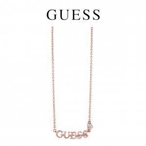 Guess® Colar Logo Rose Gold