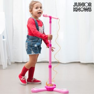 Microfone De Pé Com LED e Conexão a MP3 ou Móvel Junior Knows