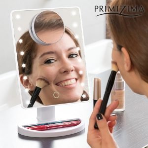 Espelho LED Com Aumento Para Maquilhagem Primizima