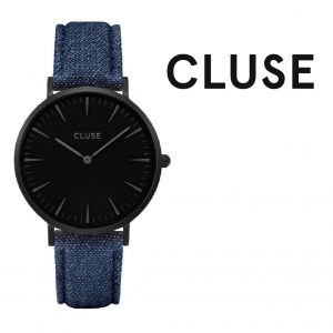 Relógio Cluse® La Bohème Full Black/Blue Denim | 38MM