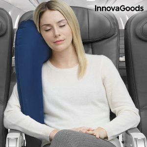 Almofada de Viagem Insuflável com Suporte Para Assentos InnovaGoods Gadget Travel