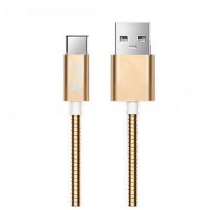 Cabo USB A 2.0 para USB C Ref. 101097 | Ouro Rosa