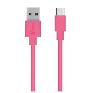 Cabo USB A 2.0 para USB C Ref. 101172 | Fúcsia