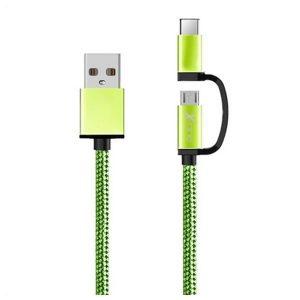 Cabo USB para Micro USB e USB C Ref. 101134 | Verde