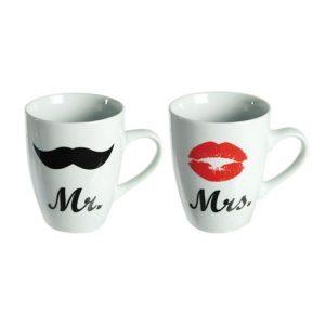Conjunto De 2 Canecas Mr e Mrs