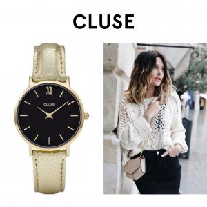 Relógio Cluse® Minuit Gold Black/Gold Metálico | 33MM