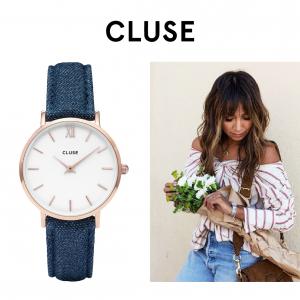 Relógio Cluse® La Bohème Rose Gold White/Denim | 38MM
