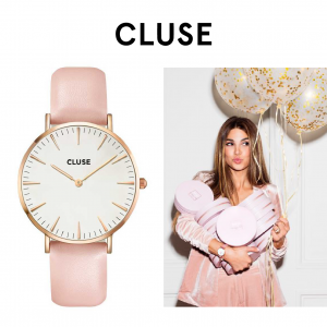 Relógio Cluse® La Bohème Rose Gold White/Pink | 38MM
