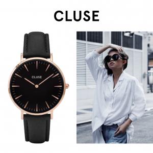 Relógio Cluse® La Bohème Rose Gold Black/Black | 38MM