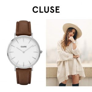 Relógio Cluse® La Bohème Silver White/Brown | 38MM