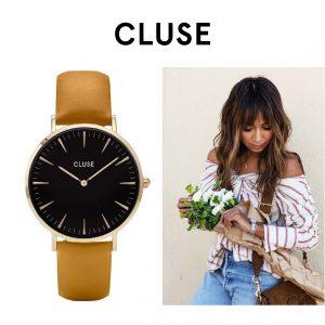 Relógio Cluse® La Bohème Gold Black/Mustard | 38MM