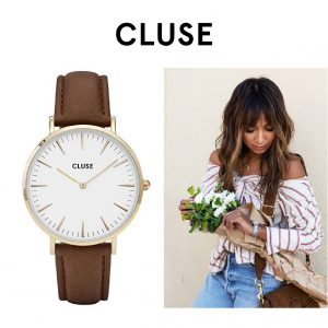 Relógio Cluse® La Bohème Gold White/Brown | 38MM
