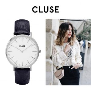 Relógio Cluse® La Bohème Silver White/Midnight Blue | 38MM